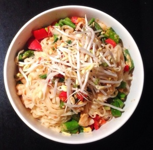 Satay rice noodles