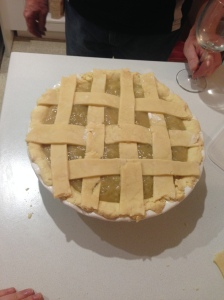 Apple and Rhubarb Pie