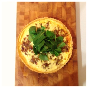 Caramelised onion and Brie tart