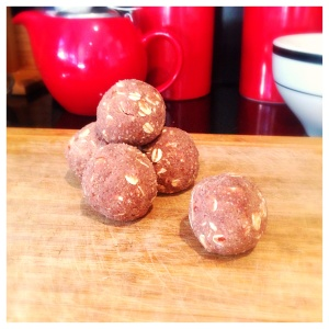 clean chocolate caramel treat balls