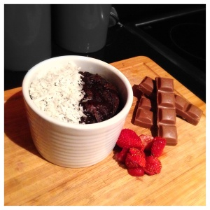 Gooey Chocolate Date and maple pudding