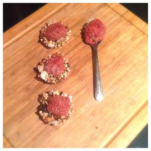 Granola bites with Strawberry Chia Bites