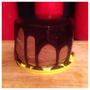 salted caramel chocolate layered cake