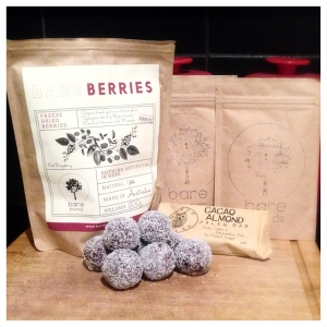 BareBlends BareBerries bliss balls