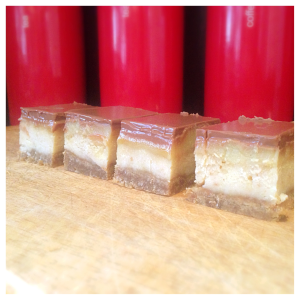 Twix slice - biscuit base