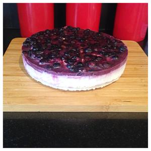 clean blueberry lemon cake