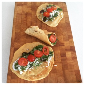 savoury egg wraps