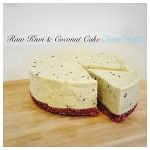 Raw Kiwi and Coconut Cake