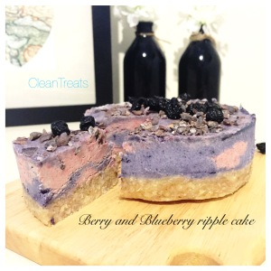 Berry and blueberry cheesecake
