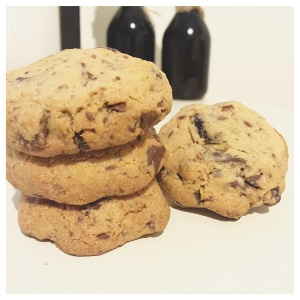 Choc cranberry biscuits 1