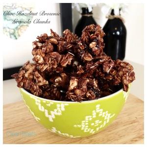 Choc hazelnut brownie granola chunks3