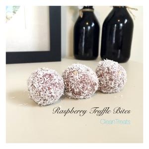 Raspberry Truffle bites