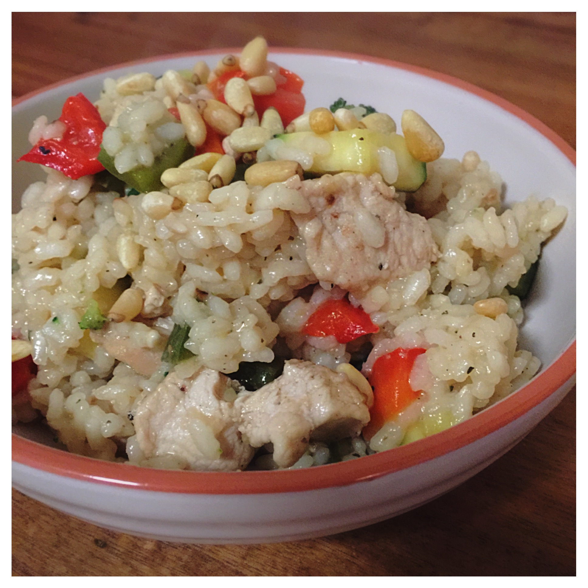 Basic chicken and vegetable risotto