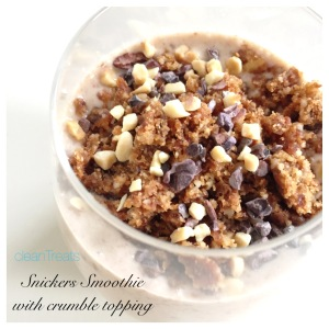 Snickers Smoothie with crumble topping 2