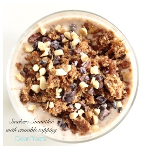 Snickers Smoothie with crumble topping 6