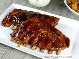 sticky BBQ pork ribs